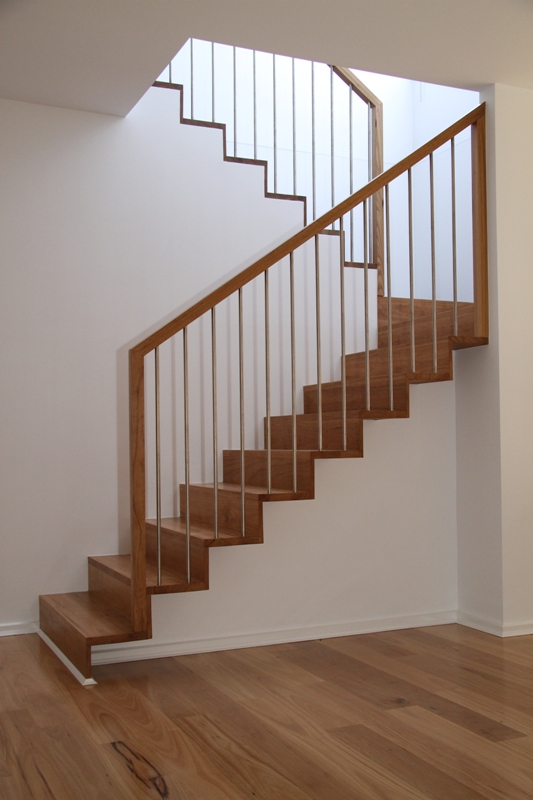 Blackbutt Timber Staircase With Stainlesssteel Flight